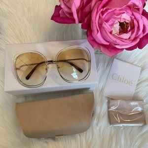 Chloe Carlina 62mm Square Sunglasses